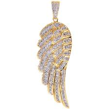 14k yellow gold 1 60 ct diamond angel