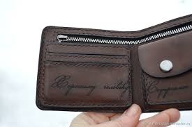 personalized leather wallet 11 taurus with