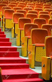 red theater chairs. A Line Of Red Theater Chairs. Stock Photo - 13831911 Chairs 5