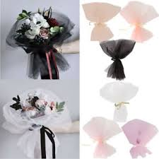 How To Wrap Flower Bouquet In Paper Details About 10pcs Tulle Florist Packing Supplies Bridal Wrapping Flower Bouquet Craft