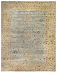 Light Blue And Gold Rug Exquisite Rugs Oushak Hand Knotted Light Blue Gold Rug