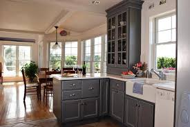 gray kitchen cabinets with white appliances Kitchens Pinterest
