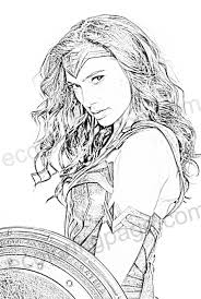 wonder woman colouring page
