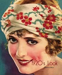 20s make up tutorial but a headscarf might be a nice way to keep