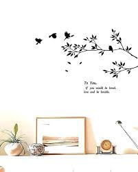 wall decal tree branches bird wall decal black wall decal art sticker birds flying to the wall decal tree branches