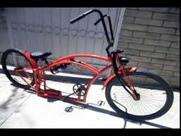 stretch custom beach cruiser with air ride suspension bicycle