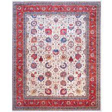 afghan hand knotted vegetable dye wool rug 12 x 14 8