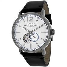 marc jacobs men s mbm9716 fergus round black leather strap watch marc jacobs men s mbm9716 fergus round black leather strap watch