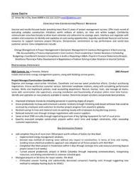 Sample Resume: Click Here To Download This Construction.