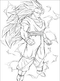 Goku Super Saiyan Coloring Pages Super 3 Coloring Pages God Dragon