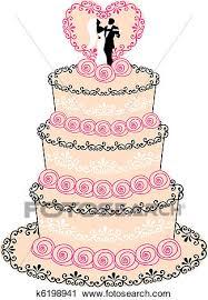 Wedding Cake Vector Clipart K6198941 Fotosearch