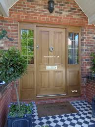 oak victorian front door side panels