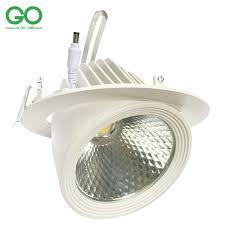led downlight 30w cob bridgelux 130 140lm w ceiling down lights rotatable adjule led trunk light gimbal gimble direction spot light downlight