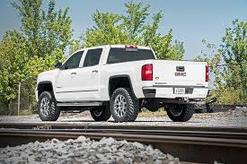 2014 gmc sierra lifted white. 7in gmc suspension lift kit 1416 1500 denali pu 4wd wmagneride 2014 gmc sierra lifted white
