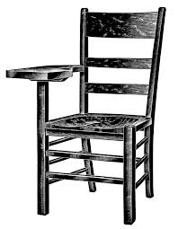 chairs clipart black and white. Wonderful Chairs Vintage School Clipart Wooden Tablet Arm Chair Black And White Graphics  Free Digital Stamp School Old Fashioned Chair Illustration For Chairs Clipart Black And White