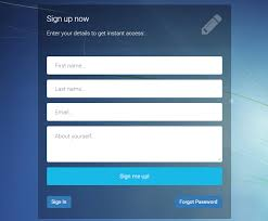 Sign Up Form Html Template Contact Form Html Template Shatterlion Info