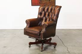 retro leather office chair. Brilliant Leather Vintage Leather Tufted Desk Chair  For Retro Office