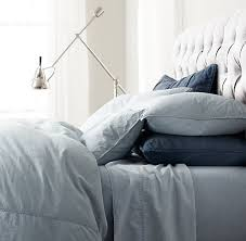 vintage washed chambray duvet cover