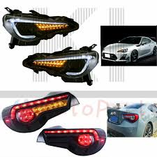 Scion Frs Led Lights Details About For 13 17 Toyota Gt 86 Subaru Brz Scion Frs Led Projector Headlights Tail Lights