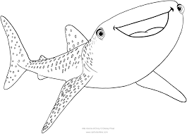 Small Picture Destiny the whale shark Finding Dory coloring pages