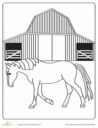 Horse And Foal Worksheet Educationcom