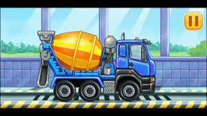 Trò chơi dành cho trẻ em | lắp ráp các loại xe xây dựng làm bể bơi và xây  nhà vườn cho bé
