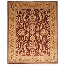 William Morris Rug Designs Afghan Hand Knotted Vegetable Dye William Morris Wool Rug 8 X 10