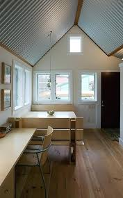 floating guest house with corrugated metal interior tiny blog ceiling lights creative ways to use in corrugated metal ceiling