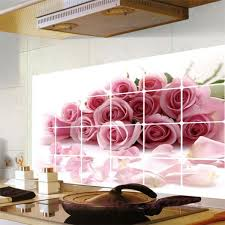 Small Picture roses kitchen vinyl wall stickers home bathroom waterproof decals