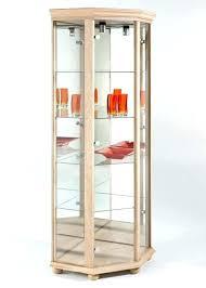 Corner Glass Cabinet For Sale Sensational Design  Imposing Decoration Light Oak   S13