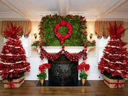 Xmas Decoration For Living Room Pretty Living Room Home Christmas Decoration Shows Enticing Green