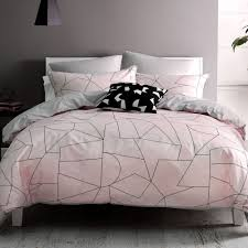 fraction duvet cover set by nu edition yellow pink