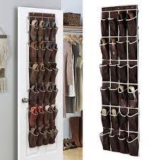 24 pockets door hanging shoe organizer over the door mesh storage racks closet hook hanging holder
