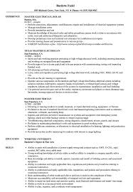 Sample Of Electrician Resumes Master Electrician Resume Samples Velvet Jobs