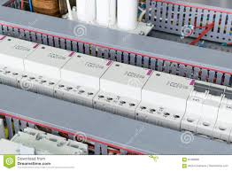 several power circuit breakers cable duct for wiring modular several power circuit breakers cable duct for wiring modular contactors and capacitors