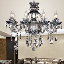 dining room 12 modern kitchen chandeliers smoke gray candle chandelier moderne for awesome home grey crystal