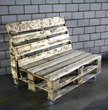 wood pallet furniture. Salvaged Pallet Bench On Wheels Wood Furniture T