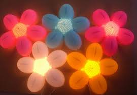 Decorative Craft Flower Wall Led Lamp Buy Wall Led Lampmoroccan Intended  For Flower Wall Lights Plan