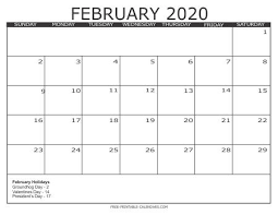 2020 16 Calendar Printable Printable Calendar Feb 2020 Encouraged For You To My