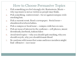 persuasive speech ppt  how to choose persuasive topics