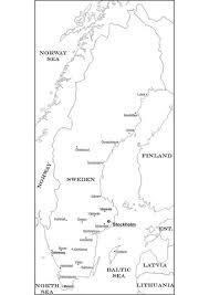 Landkaart Van Zweden Kleurplaat Gratis Kleurplaten Printen