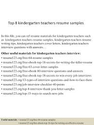 Top8kindergartenteachersresumesamples 150730023756 Lva1 App6892 Thumbnail 4 Jpg Cb 1438223925