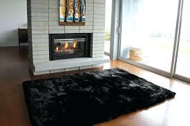 black plush rug sheepskin rug long wool black black plush bathroom rug