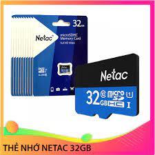 THẺ NHỚ 32G NETAC Micro SD chuyên dụng cho Camera, Điện thoại - Thẻ nhớ máy  ảnh Nhãn hàng No brand