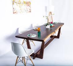 modern furniture table. Midcentury-Modern-Furniture-The Prima: Claro Walnut Dining Table-Dining Tables Modern Furniture Table
