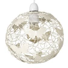 Modern Cream Wire Frame Globe Ceiling Pendant Light Shade With