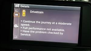 Drivetrain Warning Light Bmw 1 Series Bmw Drivetrain Malfunction Continue The Journey At Moderate Speed F30