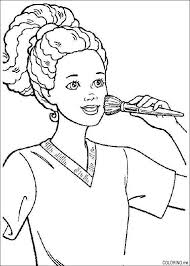 Small Picture Barbie Makeup Coloring Pages Printable Coloring Sheets