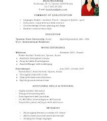 Example Of Basic Resume Simple Curriculum Vitae Simple Resume ...