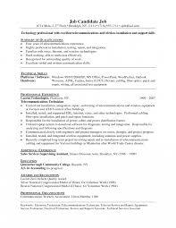 Telecom Resume Examples Telecom Technician Resume Sle Electronics Electronics Technician 8
